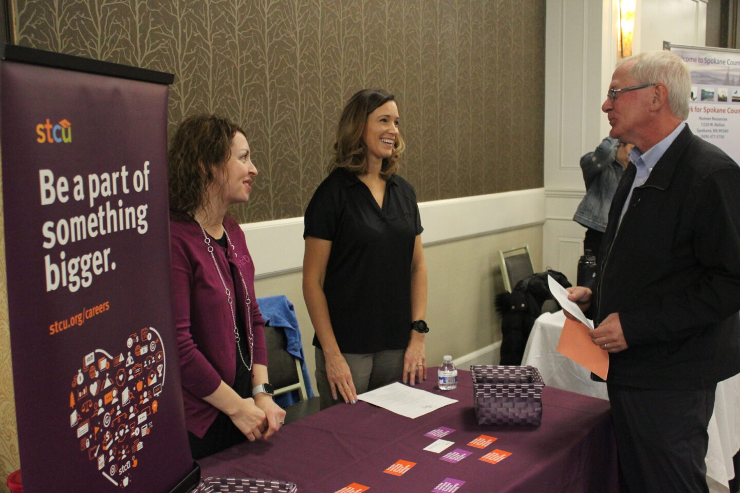 STCU booth at the job fair