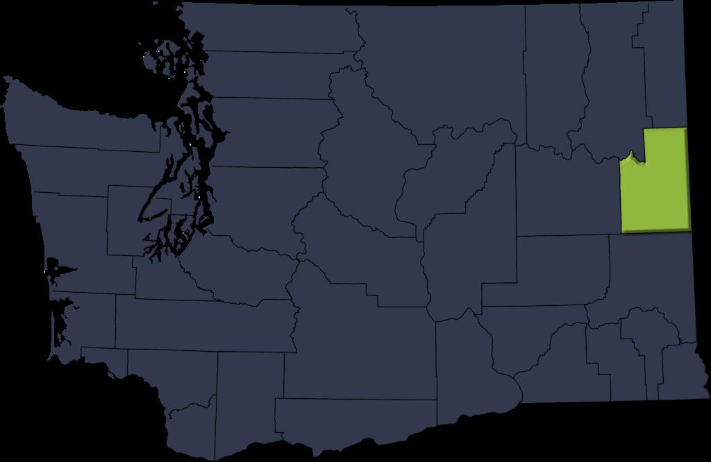 WA State Map - Spokane Emphasis